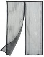 Сітка москітна на двері шторана магнітахрозсувна MVM на магнітах 920х2000 мм титан