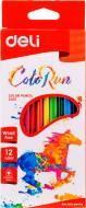 Олівці кольорові Color Run С00100 12 шт. Deli