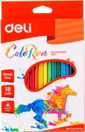 Олівці кольорові Color Run С00110 18 шт. Deli