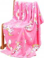Плед Lotus Единороги 100x120 см розовый 21kf-05