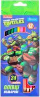 Олівці кольорові Ninja Turtles 12шт./24 кольори 1 вересня