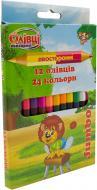 Олівці кольорові двосторонні 12 шт./24 кол. Jumbo 290162 1 вересня