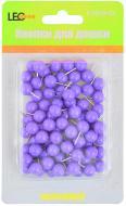 Кнопки-цвяшки LEO Бочка круглі 80 шт. неон фіолетові L1919-12