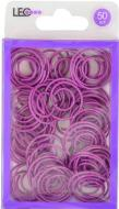 Скріпки круглі фігурні 50 шт. Фіолетові L1920-12 LEO