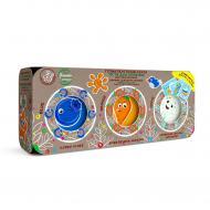 Набір тіста для ліплення OKTO Еко серія: 3 кольори по 100 г 41110