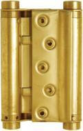 Петля універсальна Bruno пружинна 100x80мм полірована латунь універсальна 2 шт