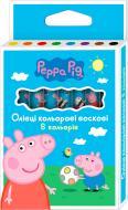Олівці воскові Свинка Пеппа 8 кольорів Перо