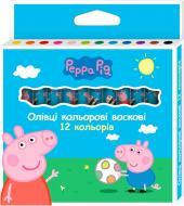 Олівці воскові Свинка Пеппа 12 кольорів Перо