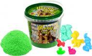 Кінетичний пісок Strateg Magic Sand зелений 1 кг 372-5