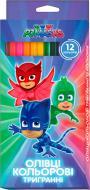 Олівці кольорові Герої в масках 12 кольорів Перо