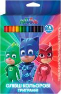 Олівці кольорові Герої в масках 18 кольорів Перо