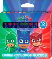 Олівці воскові Герої в масках 12 кольорів Перо