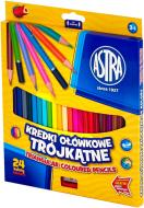Олівці кольорові 24 кольори Астра