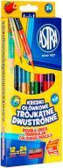 Олівці кольорові двосторонні 12 шт. 24 кольорів Астра