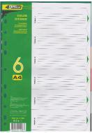 Індексний розділювач кольоровий А4 6 шт. PP 4-253 4Office
