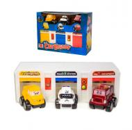 Ігровий набір Паркінг 3 машинки в коробці 2206