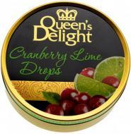 Льодяники Queen's Delight зі смаком журавлини та лайму 150 г (карамелеві) (4014600202609)