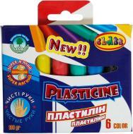 Пластилін Eco Чисті руки 6 кольорів 100 г 7625 CLASS