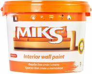 Краска акриловая водоэмульсионная MIKS Color для стен и потолков белый 10л 14кг