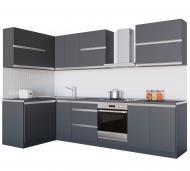 Кухня Альбіна (VА1) антрацит ДСП 1,4 мx3 м