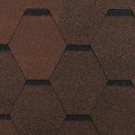 Бітумна черепиця RoofOK Сота коричнева 3 кв.м NEW