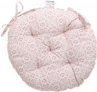 Подушка на стілець Рожевий вітраж кругла D 40 Прованс