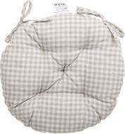 Подушка на стілець сіра в клітинку D 40 см Прованс