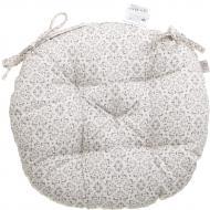 Подушка на стілець Сірий вітраж кругла D 40 Прованс