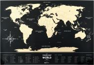 Скретч-карта Travel Map Black World 60x80 см