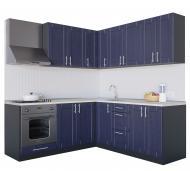 Кухня Квадро (VІІІК5) темно-синій МДФ 2 мx2 м