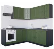Кухня Модена (VІІІМ4) темно-зелений МДФ 2 мx2 м