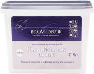 Фарба декоративна Китайський шовк Ircom Decor біле срібло 0,8 л
