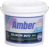 Структурна штукатурка Amber Silikon-Fassaden putz R20 25 кг білий