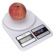 Кухонные электронные весы Kronos SF400 от 1 г до 10 кг Белые (gr_002537)