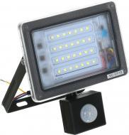 Прожектор з датчиком руху Expert Light NC-F30-PIR 30 Вт IP65 чорний