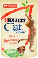 Корм Purina Cat Chow Adult 1+ з яловичиною та баклажанами в желе 85 г
