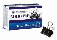 Біндер Navigator 19 мм 12 шт. чорний 75306-NV