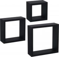 Комплект полок Пуасси (квадрат) черный
