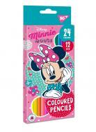 Карандаши цветные Minnie Mouse 12/24 цвета 290605 YES