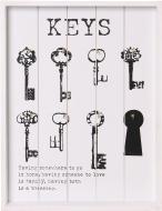 Ключниця на 8 ключей 373х28х3 см