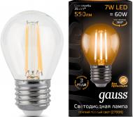Лампа світлодіодна Gauss Black Filament 105802107 G45 7 Вт E27 2700 К 220 В прозора
