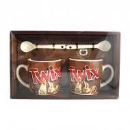 Подарочный набор из 2-х чашек и ложек Good Idea Twix 200 мл Коричневый (nt5339сi3721)