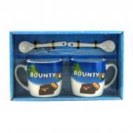 Подарочный набор из 2-х чашек и ложек Good Idea Bounty 200 мл Синий (nt5339аi3724)