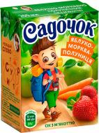 Сік Садочок Яблуко-морква-полуниця 200 мл