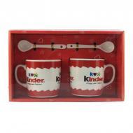 Подарочный набор из 2-х чашек и ложек Good Idea Kinder 200 мл Красный (nt5339i3726)