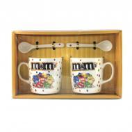 Подарочный набор из 2-х чашек и ложек Good Idea MMs 200 мл Желтый (nt5339bi3727)