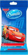 Дитячі вологі серветки Smile Тачки 15 шт.