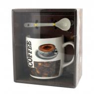 Чашка с ложечкой Good Idea в подарочной упаковке Hot Coffee 200 мл Белый (nt5317i3414)