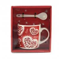 Чашка с ложечкой Good Idea в подарочной упаковке Love 200 мл Красный (nt5313i4367)