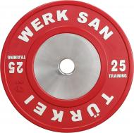 Диск для грифа Werksan DTRA043 Tranining 25 кг